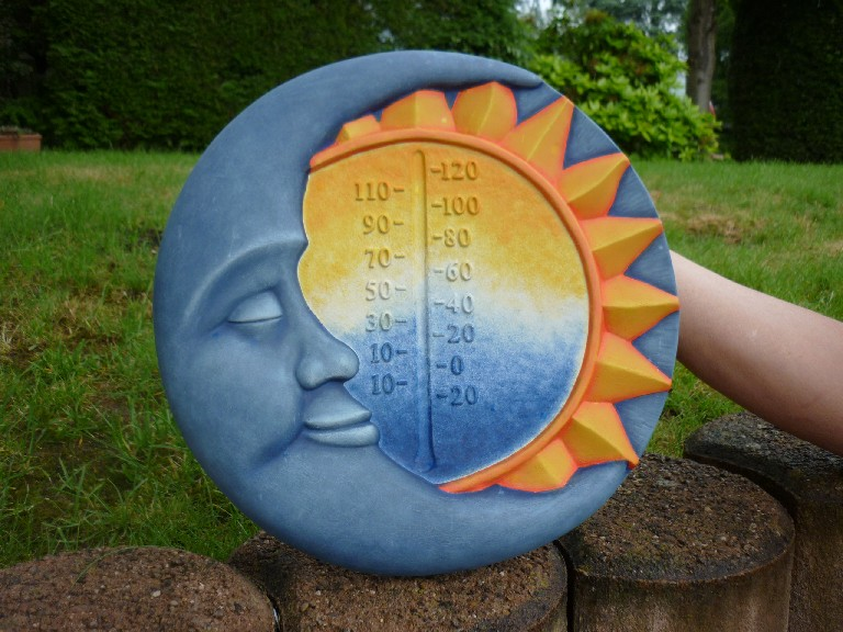 Zon- en maanthermometer (exclusief thermometer)